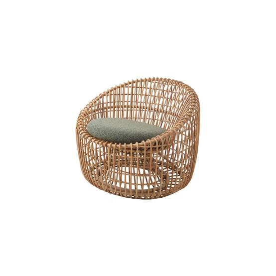 Nest Indoor Round Chair Cushion in Dark Green