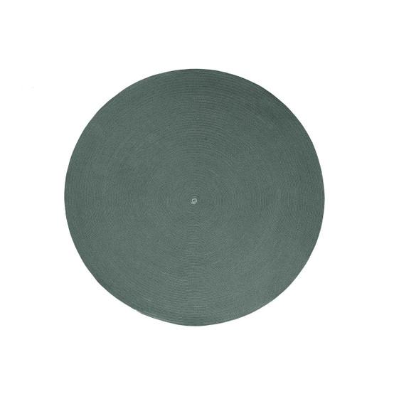 Circle Small Round Rug in Dark Green