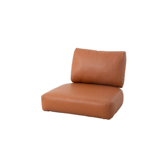 Nest Indoor Lounge Chair Cushion Set in Cognac Leather