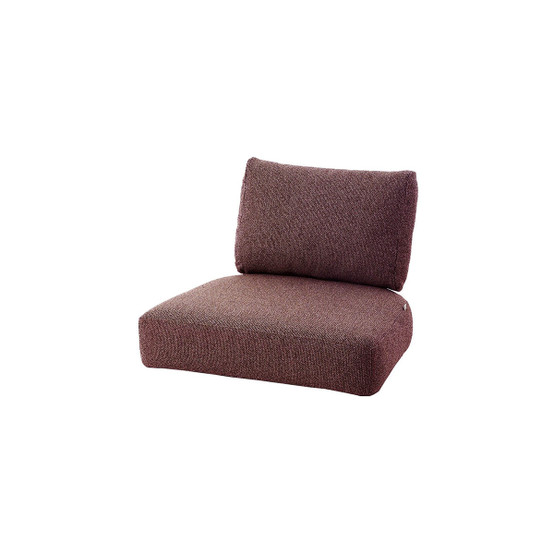 Nest Indoor Lounge Chair Cushion Set in Dark Bordeaux