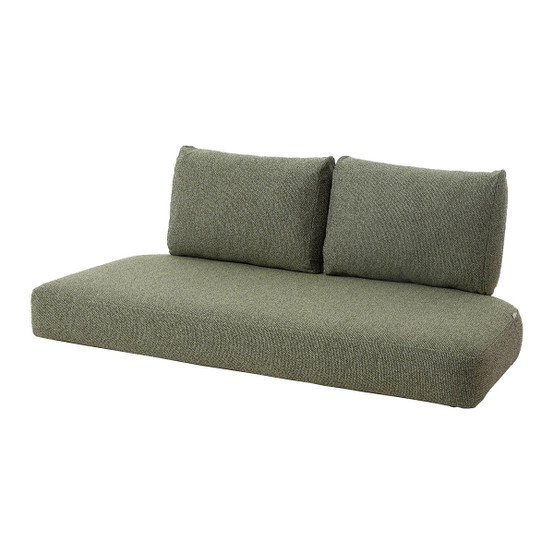 Nest 2 Seat Indoor Sofa Cushion Set in Dark Green