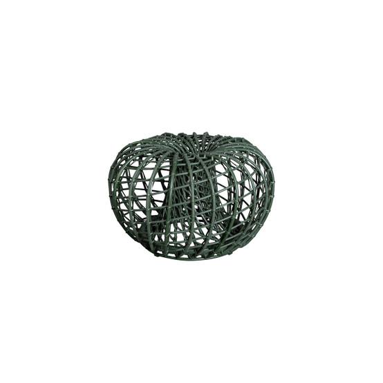 Nest Small Footstool in Dark Green