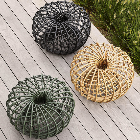 Nest Small Footstool in Lava Grey
