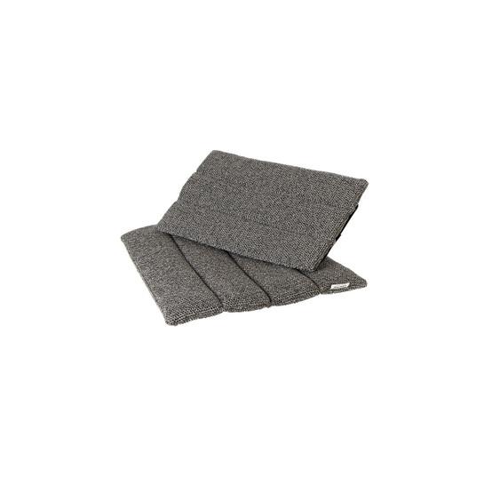 Flip Folding Chair Cushion in Dark Grey Weave