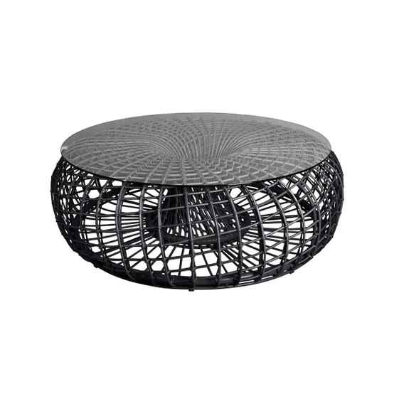 Nest Large Footstool/Coffee Table in Lava Grey