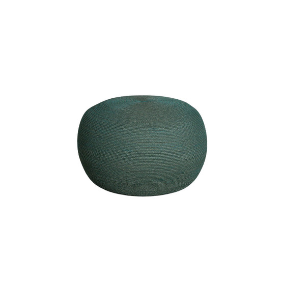 Circle Large Round Footstool in Dark Green