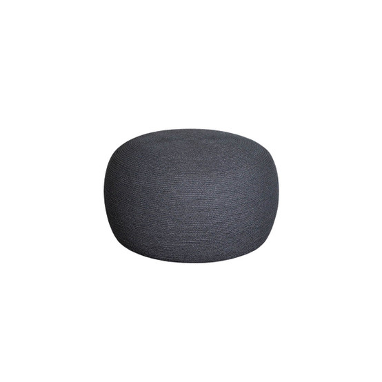 Circle Large Round Footstool in Dark Grey