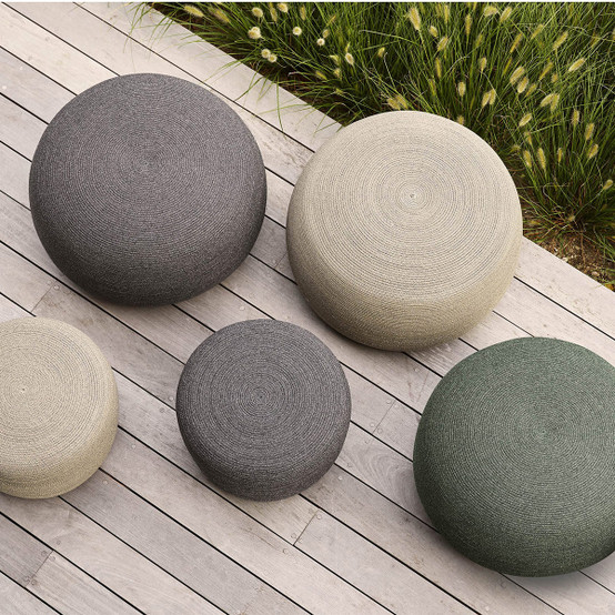 Circle Small Conic Footstool in Dark Grey