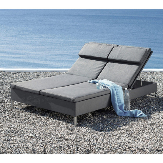 Rest Double Sunbed in Grey