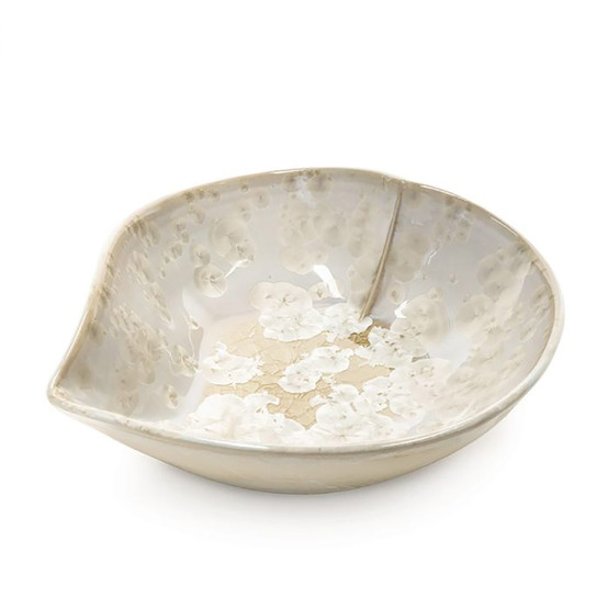 Large Crystalline Heart Dish in Candent