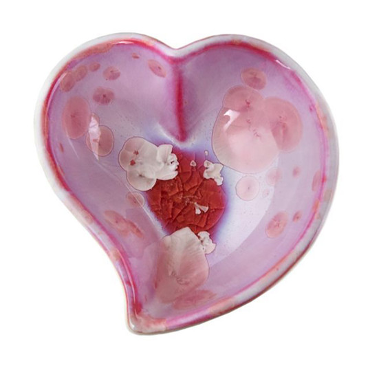 Crystalline Heart Dish in Rose