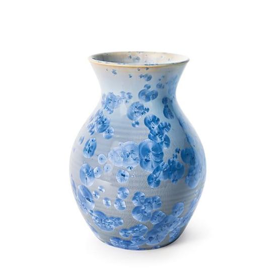 Medium Crystalline Curio Vase in Cobalt
