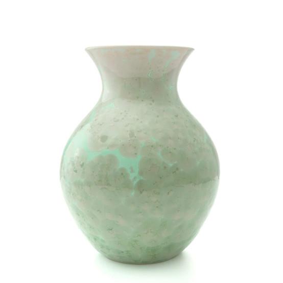 Medium Crystalline Curio Vase in Jade