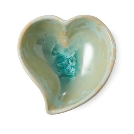 Crystalline Heart Dish in Jade