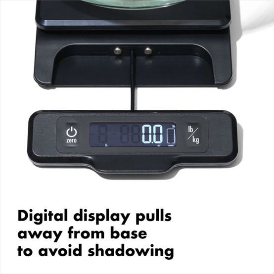 Good Grips Food Scale with Pull-Out Display in Black