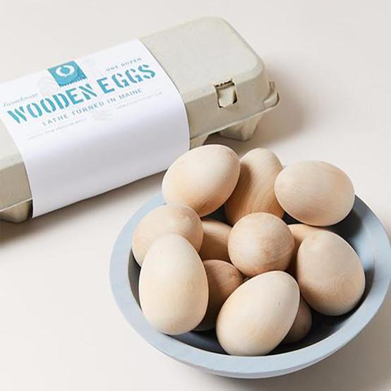 Farmhouse Wooden Egg Set