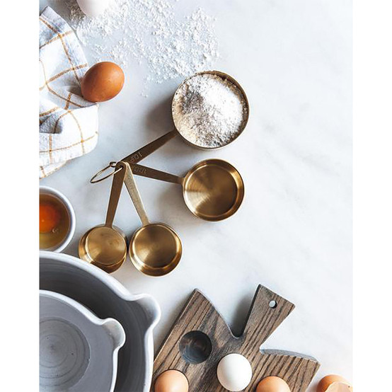 Stowe Measuring Cups In Brushed Gold