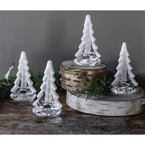 """Snowy Branches Evergreen, 4"""" (Gift Boxed)"""
