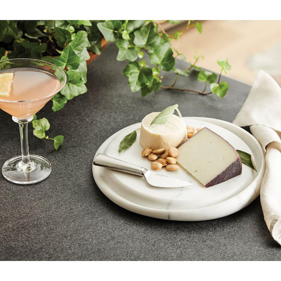 Marble Cheese Board, White