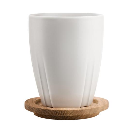 Bruk Mug with Oak Lid in Ash Grey, Set of 2
