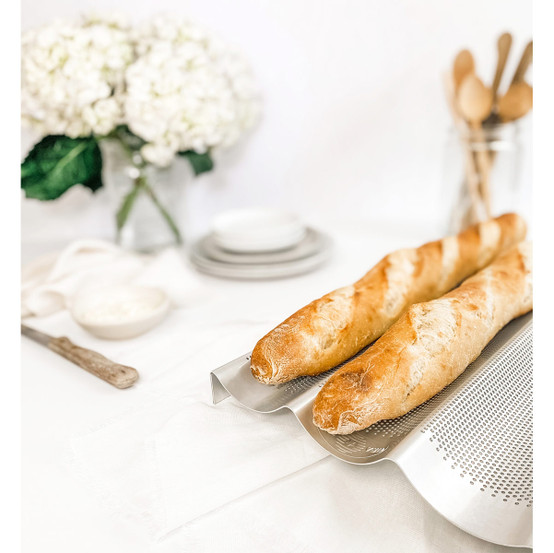 French Baguette Pan - 3 Loaves