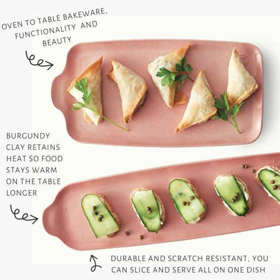 Extra Large Appetizer Platter in Rose