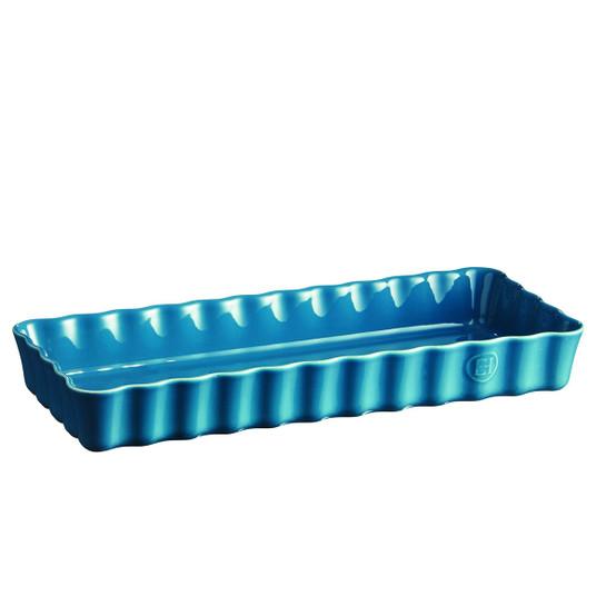 Slim Tart Dish in Mediterranean Blue