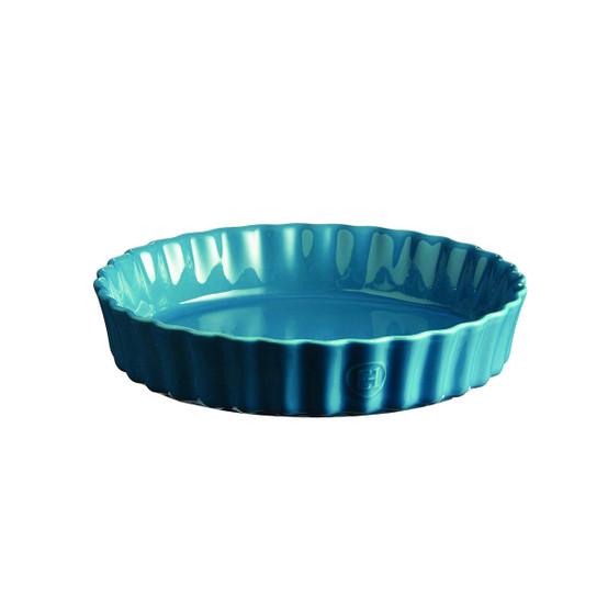 Deep Round Tart Dish in Mediterranean Blue