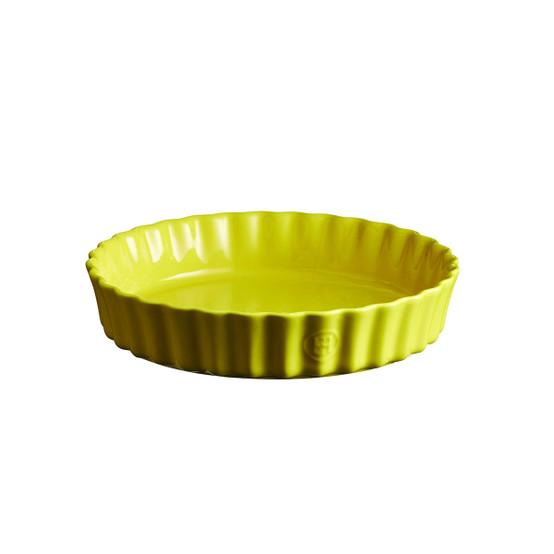 Deep Round Tart Dish in Provence Yellow