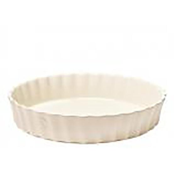 Deep Round Tart Dish in Clay