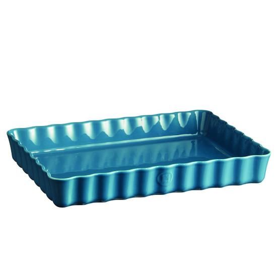 Deep Tart Dish in Mediterranean Blue