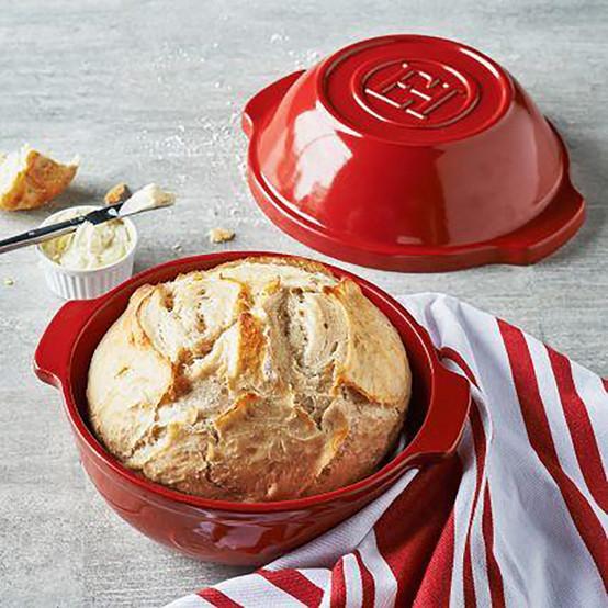 Bread/Potato Pot in Burgundy