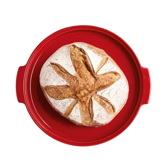 Modern Bread Cloche in Burgundy