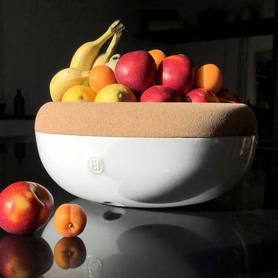 Large Storage Bowl in Creme