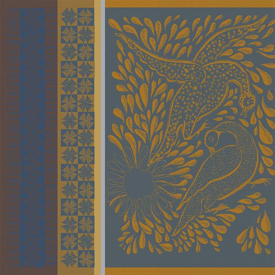 Anhinga Bleu Dore Napkin