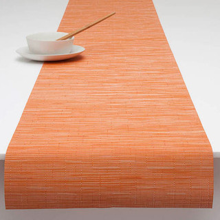 bamboo woven vinyl table runner by chilewich 14x72 inch
