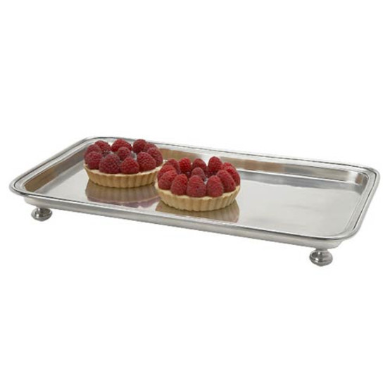 Footed Rectangular Service Tray