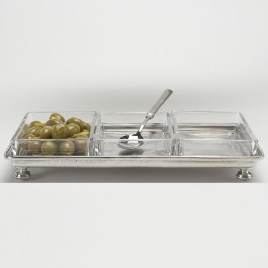 Footed Crudite Tray