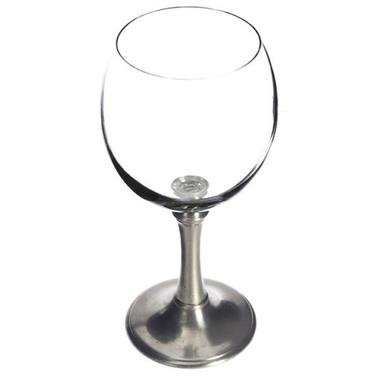 Balloon wine glass, sm., crystal