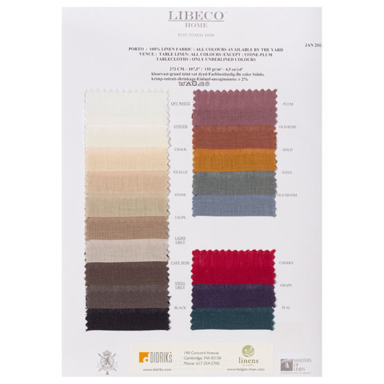 Vence (Santiago) Swatch Card (Porto Fabric quality)