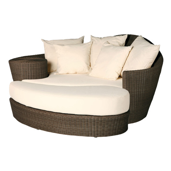 Dune Daybed Java With Ottoman & Pillows
