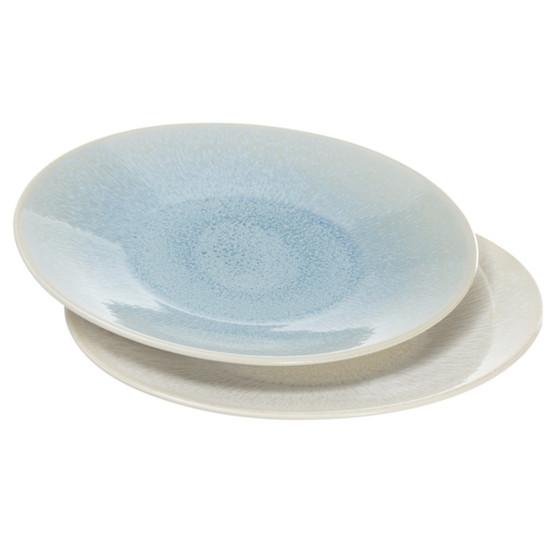 White Pearl + Ocean Blue