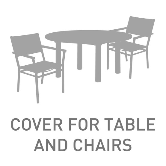 59 in. to 73 in. Circular Table With 8 Chairs Cover
