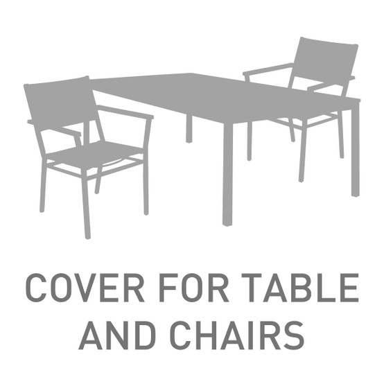 "79"" rectangular Table With 6-8 Chairs Cover"