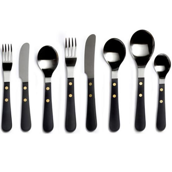 Provencal Black Stainless Steel Table Knife