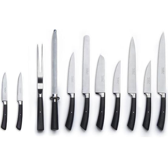 """Carving Knife Black Handled 9"""""""