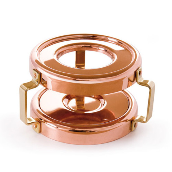 MMinis Copper & Stainless Steel Heater With Candle For Mini Saucepan