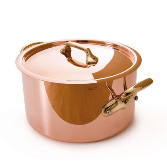 Mheritage M250 Copper Stew pot with Lid, bronze handle