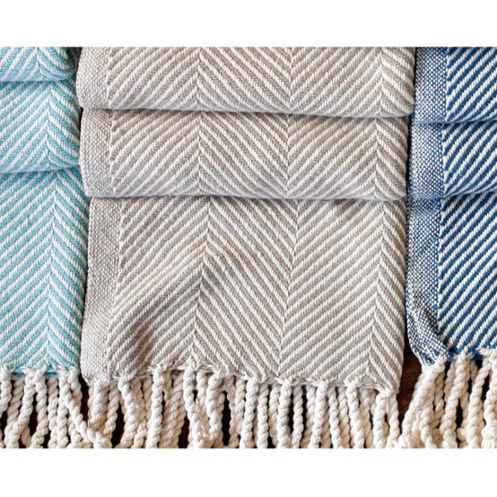 Monhegan Cotton Throw - Natural Ground