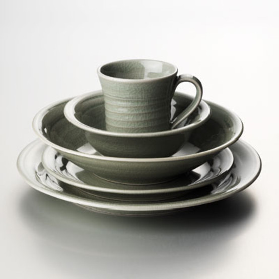 Belmont Dinnerware in Celadon by Simon Pearce